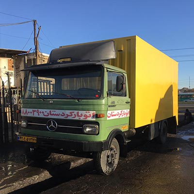 خاور و کامیون های حمل بار در باربری کردستان تهران